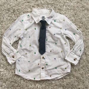 Toddler boy bug 🐛 print dress shirt